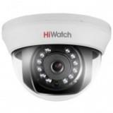 DS-T101 (2,8/3,6/6 mm) 1Мп внутренняя купольная HD-TVI камера с ИК-подсветкой до 20м