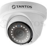 TSc-EBecof24 (3.6) Камера купольная универсальная 2Мп 4в1 (AHD, TVI, CVI, CVBS) 1080p